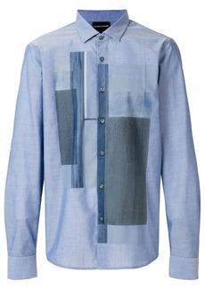 Armani printed patchwork shirt