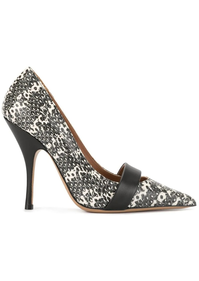 Armani printed pointed-toe pumps