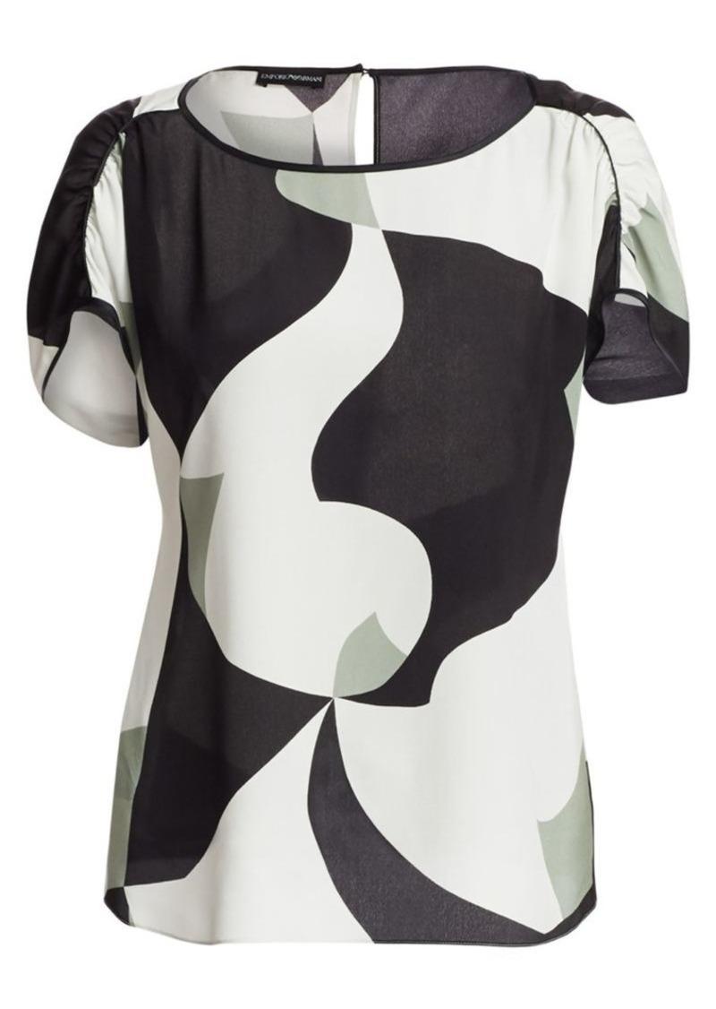 Armani Printed Silk Blouse