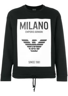 Armani printed sweatshirt