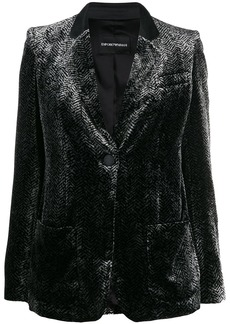 Armani printed velvet blazer