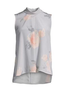 Armani Printed Watercolor Floral Sleevless Top