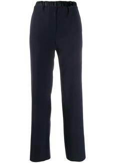 Armani pull-on elasticated-waist trousers