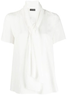 Armani pussy bow blouse