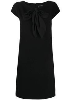 Armani pussy bow T-shirt dress