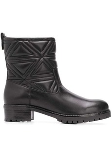 Armani quilted ankle boots