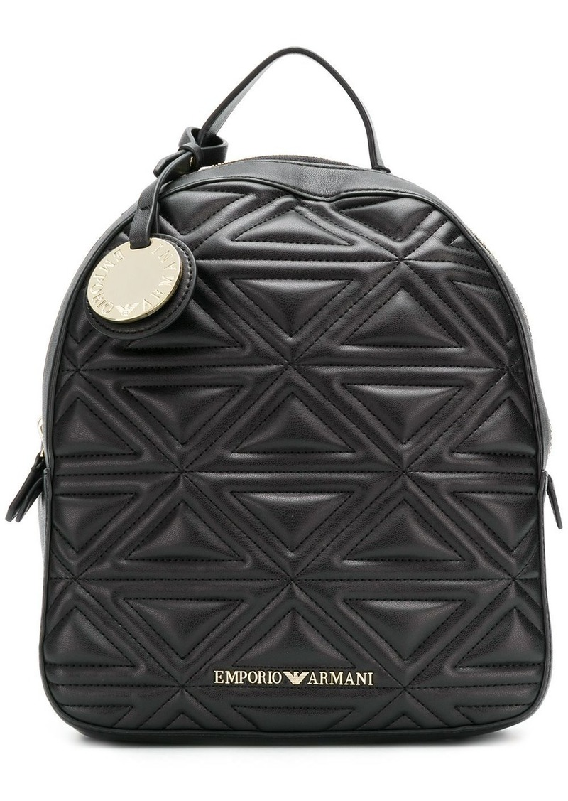 Armani quilted effect backpack