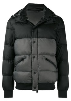 Armani quilted hooded down jacket