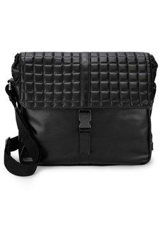 Armani Quilted Leather Messenger Bag