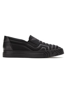 Armani quilted slip-on sneakers