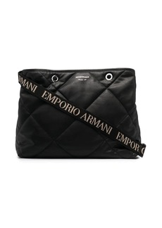 Armani quilted tote bag