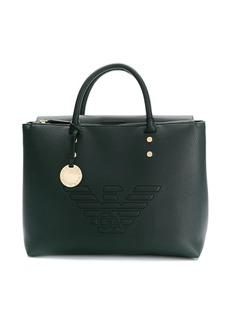 Armani raised logo tote bag