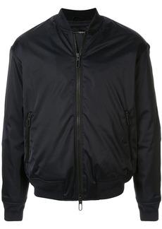 Armani rear logo boxy bomber jacket