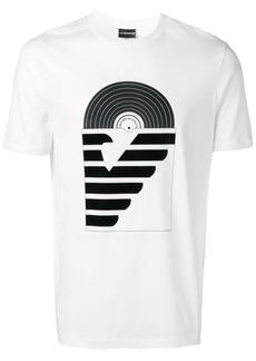 Armani record logo print T-shirt