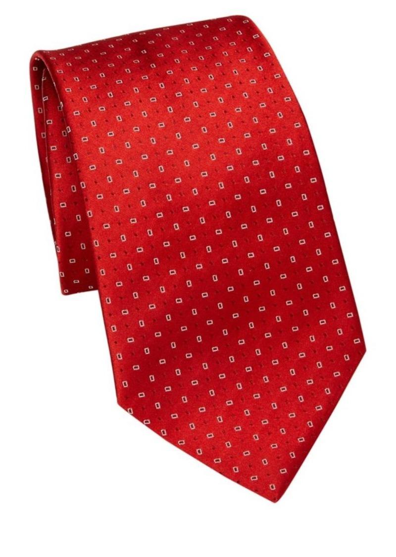 Armani Red Neat Silk Tie