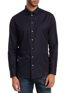 Armani Regular-Fit Dyed Stretch Poplin Shirt
