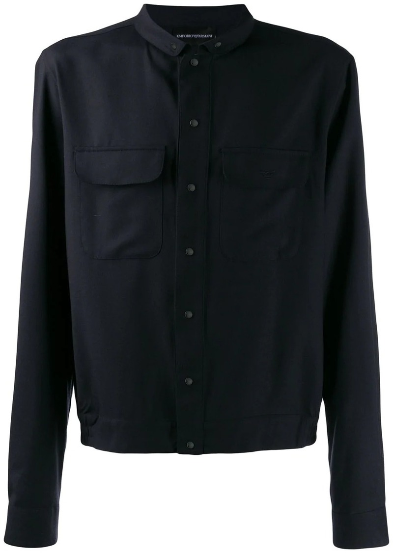 Armani relaxed-fit shirt jacket