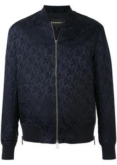 Armani repeat logo bomber jacket