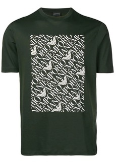 Armani repeat logo print T-shirt