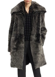 Armani Reversible Long-Haired Shearling Coat