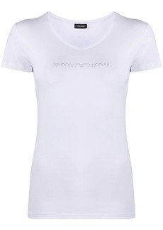 Armani rhinestone logo T-shirt