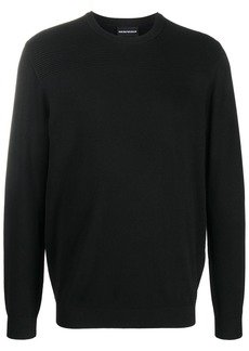 Armani rib-knit panelled jumper