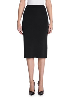 Armani Rib Knit Pencil Skirt