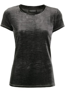 Armani ribbed effect t-shirt