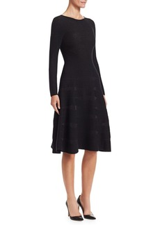 Armani Ribbed Fit-&-Flare Dress