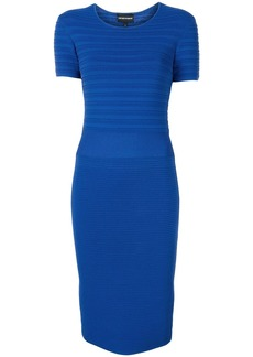 Armani ribbed fitted dress