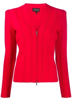Armani ribbed fitted jacket
