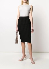 Armani ribbed fitted skirt
