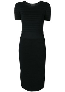 Armani ribbed knit fitted dress