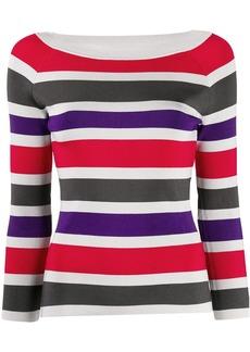 Armani ribbed knit striped jumper