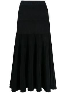 Armani ribbed midi skirt