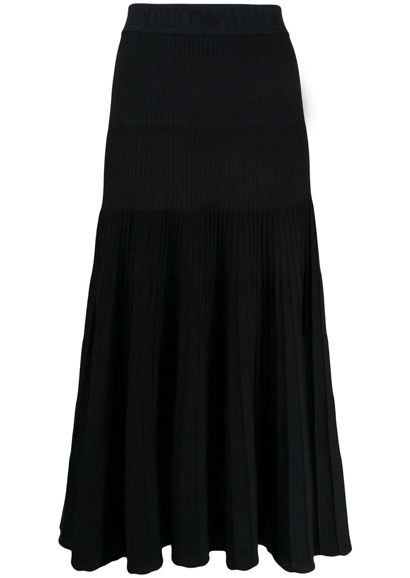 Armani ribbed midi skirt