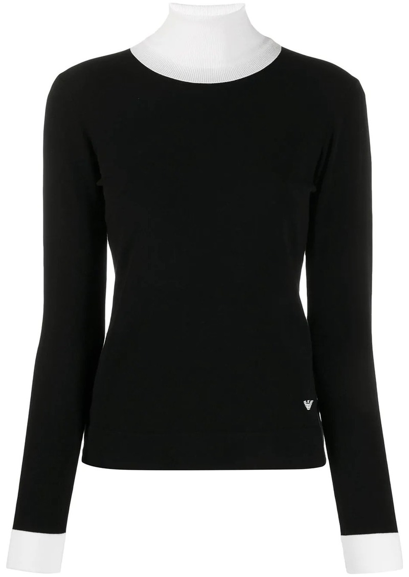 Armani ribbed neck top