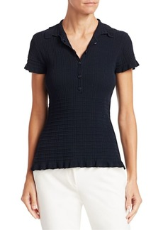 Armani Ribbed Polo Shirt
