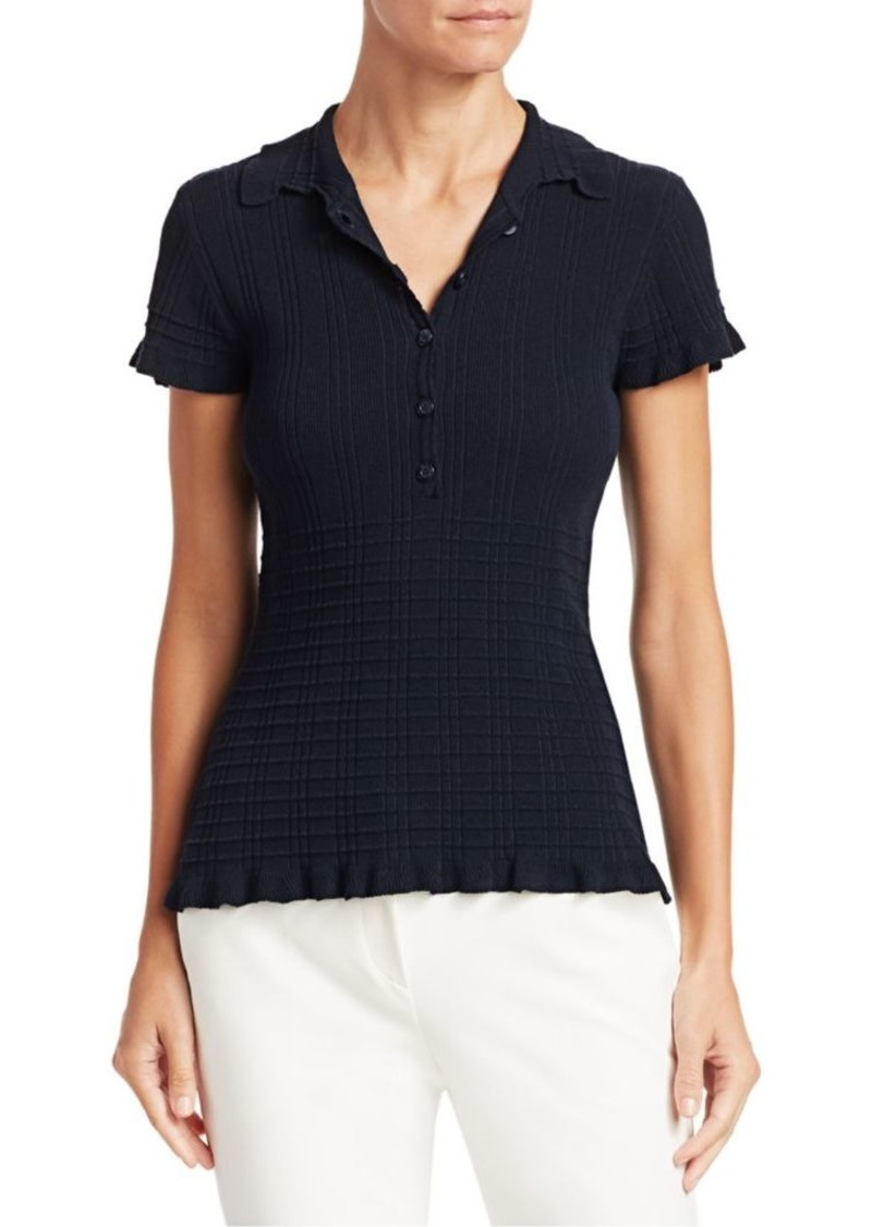 Armani Ribbed Polo Shirt