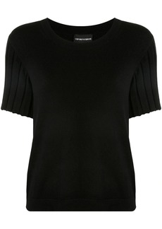 Armani ribbed sleeves knitted top