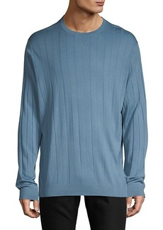 Armani Ribbed Wool-Blend Sweater