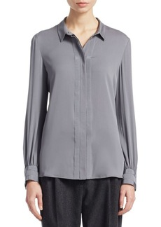 Armani Ribbon Trim Blouse