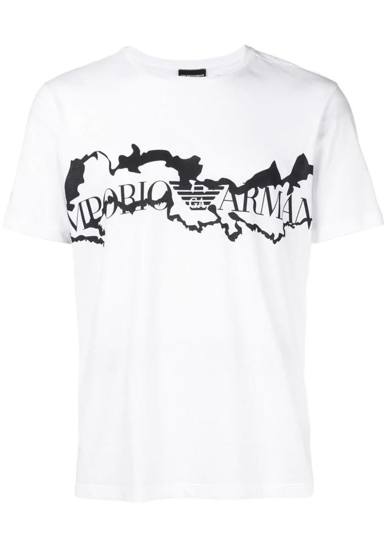 Armani rip print T-shirt
