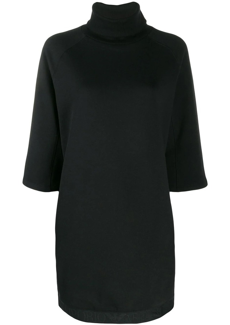 Armani roll neck sweatshirt dress
