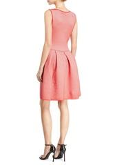 Armani Rosa Volcano Sleeveless Fit-and-Flare Striped Ottoman Dress
