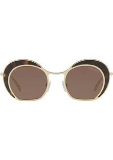 Armani round frame tortoiseshell sunglasses
