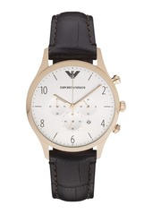 Armani Round Stainless Steel Chronograph Watch