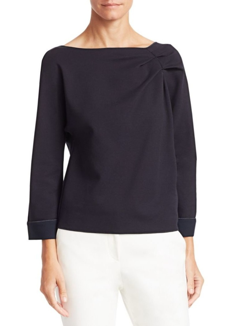 Armani Ruched Boatneck Top