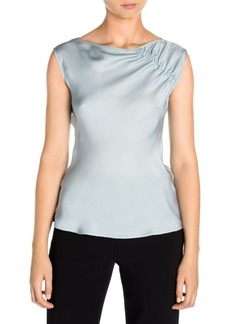 Armani Ruched Detail Silk Top