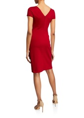 Armani Ruched-Front Milano Jersey Dress